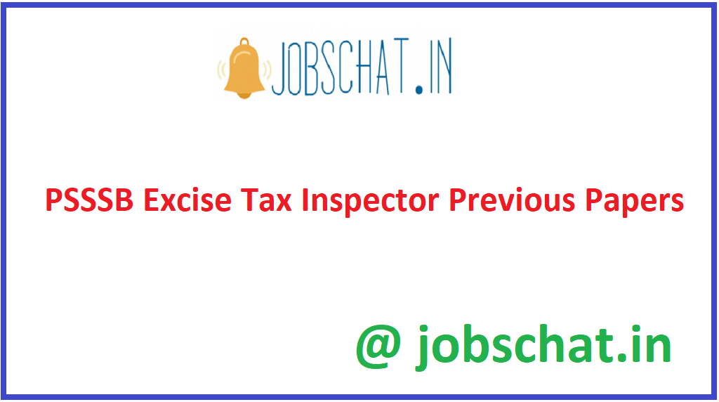 PSSSB Excise Tax Inspector Previous Papers