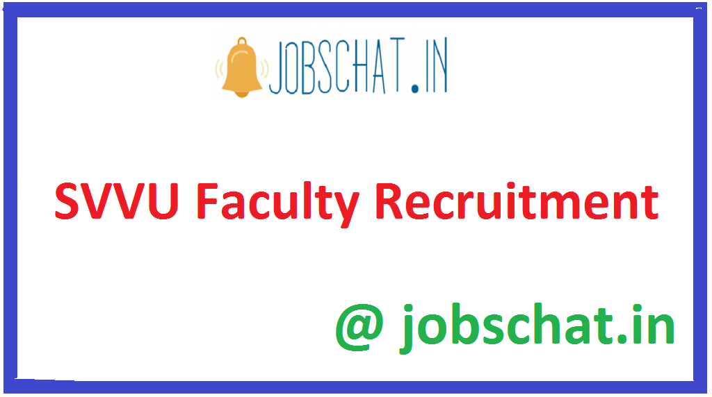 SVVU Faculty Recruitment