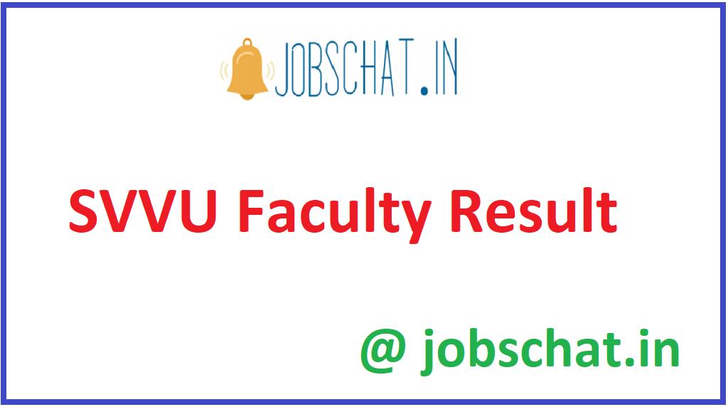 SVVU Faculty Result