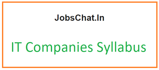IT Companies Syllabus